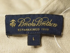 ブルックスブラザーズ BrooksBrothers 半袖セーター サイズL レディース ベージュ【中古】