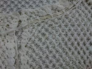 ラルフローレン RalphLauren カーディガン サイズXL XL レディース 美品 アイボリー 半袖/かぎ編み【中古】