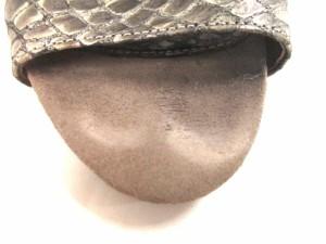 ラボキゴシ RABOKIGOSHI サンダル 23 レディース グレージュ×シルバー 型押し加工/works/EMIKO KAMISHIMA スエード×レザー【中古】