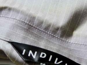 インディビ INDIVI ジャケット サイズ36 S レディース ライトグレー×白 ストライプ【中古】