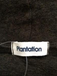 プランテーション Plantation 半袖セーター サイズM レディース 美品 カーキ【中古】