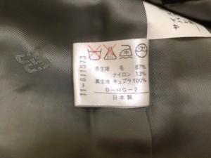 ダックス DAKS スカートスーツ サイズ9AR S レディース アイボリー×黒 チェック柄【中古】