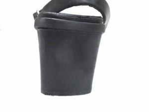 イヴサンローラン YvesSaintLaurent サンダル 36 レディース 黒 レザー【中古】
