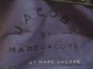 マークバイマークジェイコブス MARC BY MARC JACOBS ハンドバッグ - パープル×黒×グレー キャンバス【中古】