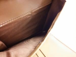 プラダ PRADA 3つ折り財布 - ブラウン レザー【中古】