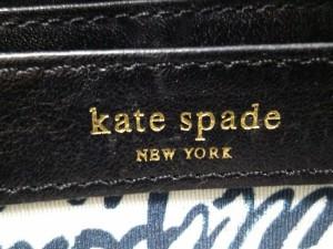ケイトスペード Kate spade 長財布 黒 ラウンドファスナー レザー【中古】