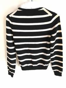 アリスオリビア alice+olivia 長袖セーター サイズXS レディース 黒×アイボリー 襟取り外し可【中古】