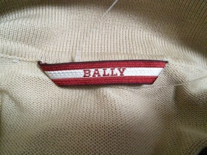 バリー BALLY 半袖ポロシャツ サイズ46 S メンズ 美品 ベージュ×レッド×白 ニット【中古】