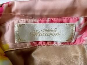 ミシェルマカロン michell Macaron ノースリーブシャツブラウス サイズXS レディース 美品 ベージュ×イエロー×マルチ 花柄【中古】