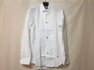 バーバリーブラックレーベル Burberry Black Label 長袖シャツ サイズ1 S メンズ 美品 白 プリーツ【中古】