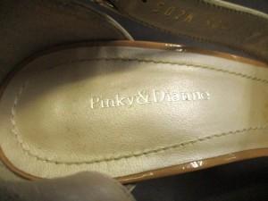 ピンキー&ダイアン Pinky&Dianne サンダル 36 レディース ベージュ×ゴールド レザー×プラスチック【中古】