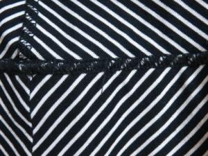 バーバリーブルーレーベル Burberry Blue Label ワンピース サイズ38 M レディース 黒×白 ボーダー【中古】