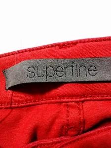 スーパーファイン superfine パンツ サイズ25 XS レディース 美品 レッド【中古】