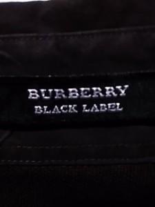 バーバリーブラックレーベル Burberry Black Label 長袖ポロシャツ サイズ2 M メンズ ダークブラウン×ブルー【中古】
