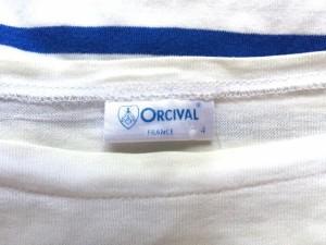 オーシバル ORCIVAL 半袖Tシャツ サイズ4 XL メンズ 白×ブルー ボーダー【中古】