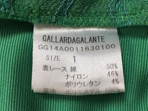 ガリャルダガランテ GALLARDAGALANTE スカート サイズ1 S レディース 美品 ライトグリーン レース【中古】