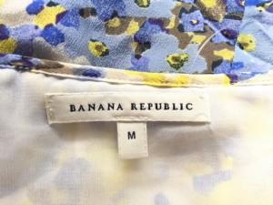 バナナリパブリック BANANA REPUBLIC ワンピース サイズM レディース 美品 ライトブルー×イエロー×白 ロング丈【中古】