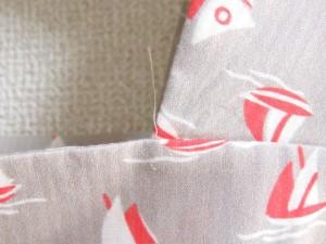 ルネ Rene ワンピース サイズ32 XS レディース 美品 ベージュ×レッド×アイボリー ヨット柄【中古】