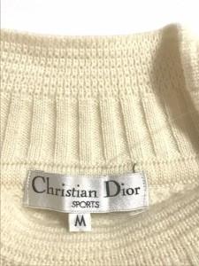 クリスチャンディオールスポーツ ChristianDiorSports 長袖セーター サイズM レディース アイボリー【中古】