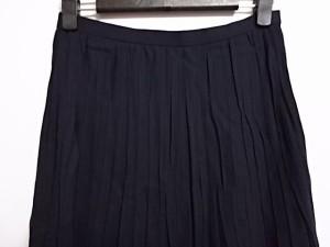 アクアスキュータム Aquascutum ロングスカート サイズ9 M レディース ネイビー【中古】