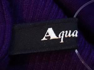 アクアスキュータム Aquascutum 半袖セーター サイズ8 M レディース パープル【中古】