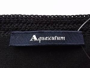 アクアスキュータム Aquascutum 長袖カットソー サイズ9 M レディース 黒 スパンコール【中古】
