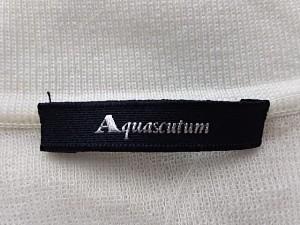 アクアスキュータム Aquascutum 半袖カットソー サイズ9 M レディース 白【中古】