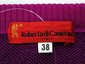 ロベルタ ディ カメリーノ Roberta di camerino 長袖セーター サイズ38 M レディース ピンク×黒【中古】