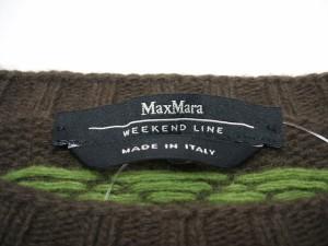 マックスマーラウィークエンド Max MaraWEEKEND 長袖セーター サイズM レディース ダークブラウン×ライトブルー×マルチ【中古】