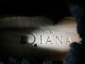 ダイアナ DIANA ショートブーツ 38 レディース 黒 ウェッジソール/アウトソール張替済 スエード【中古】