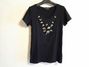 ソニアリキエル SONIARYKIEL 半袖Tシャツ サイズS レディース 美品 黒×イエロー【中古】