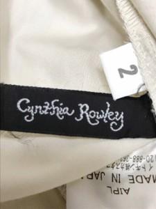 シンシアローリー CYNTHIA ROWLEY ワンピース サイズ2 S レディース アイボリー フリル/シャツワンピ【中古】