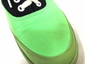 ロデオクラウンズ RODEOCROWNS スニーカー L レディース ライトグリーン×黒 コットン×ラバー【中古】