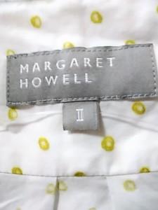 マーガレットハウエル MargaretHowell 半袖シャツブラウス サイズ2 M レディース 白×カーキ【中古】