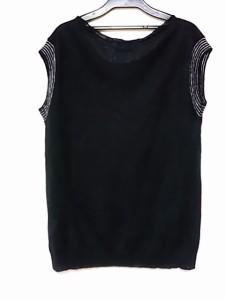 マーガレットハウエル MargaretHowell セーター サイズ2 M レディース ダークネイビー×白【中古】