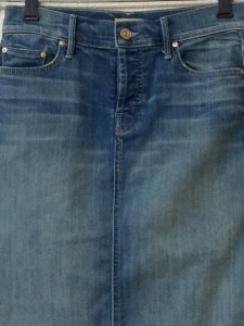 マザー mother ロングスカート サイズ25 XS レディース 美品 ブルー ダメージ加工【中古】