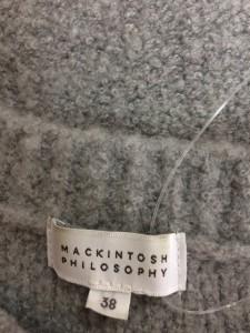 マッキントッシュフィロソフィー MACKINTOSH PHILOSOPHY 長袖セーター サイズ38 L レディース ライトグレー【中古】