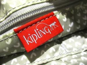 キプリング Kipling ショルダーバッグ 美品 ダークネイビー×アイボリー×マルチ ナイロン【中古】