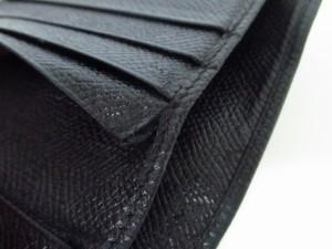 ブルガリ BVLGARI Wホック財布 ブルガリブルガリ 黒 レザー【中古】