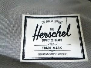 ハーシェル HERSCHEL リュックサック グレー×ライトグリーン×白 ナイロンキャンバス【中古】