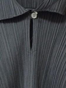 プリーツプリーズ PLEATS PLEASE 長袖カットソー サイズ3 L レディース ダークグレー プリーツ加工【中古】
