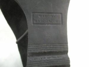 マークバイマークジェイコブス MARC BY MARC JACOBS ショートブーツ 36 レディース 黒 インヒール スエード【中古】