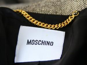 モスキーノ MOSCHINO ジャケット サイズ42 M レディース ライトグレー×黒【中古】