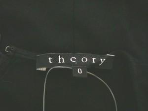 セオリー theory ワンピース サイズ0 XS レディース 美品 黒 ノースリーブ【中古】