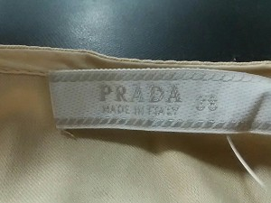 プラダ PRADA 七分袖カットソー サイズ38 S レディース アイボリー ポケット付【中古】