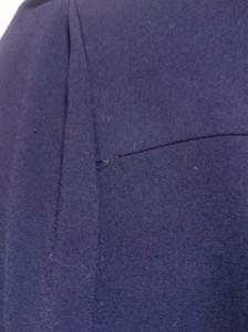 ロペ ROPE ワンピース サイズ38 M レディース 美品 ネイビー×黒 ロング丈/襟着脱可【中古】