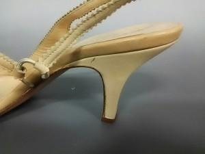 ア・テストーニ a.testoni サンダル 36 2/1 レディース 美品 アイボリー レザー【中古】