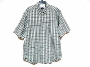 コロンビア columbia 半袖シャツ サイズXS メンズ ライトグリーン×グリーン チェック柄【中古】