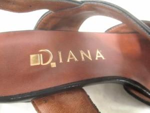 ダイアナ DIANA サンダル 22 レディース 黒 レザー【中古】