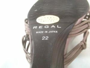 リーガル REGAL ミュール 22 レディース ブラウン ウェッジソール レザー【中古】